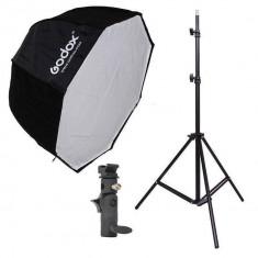 Godox 80 x 80cm, octagon umbrela, softbox Lumina, stativ, umbrela - Lumini Studio foto