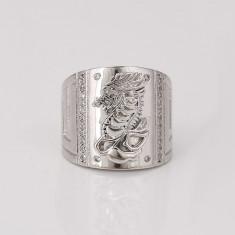 Inel model Dragon, placat cu platina Cod produs: INB 15 - Inel platina, 46 - 56