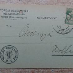 C.P. Reclama - Fabrica de ciment Turda-Bod 1922.
