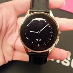 Ceas Vector Luna, editie limitate, curea piele, croco, neagra. - Smartwatch, Alte materiale