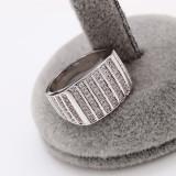 Inel Barbati placat cu platina,cristale zirconiu Cod produs: INB 12, 57 - 67