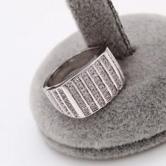 Inel Barbati placat cu platina, cristale zirconiu Cod produs: INB 12, 57 - 67