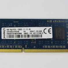 Ram Kingston DDR3L 4GB 1Rx8 PC3L-12800S-11-12-B3 ACR16D3LS1KFG/4G garantie - Memorie RAM laptop, DDR2, 667 mhz, Dual channel