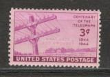 S.U.A.1944 100 ani telegraful  SU.357, Nestampilat