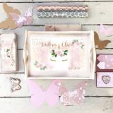 Set 1 An 1st Unicorn – tava si cutituta personalizate - Decoratiuni petreceri copii