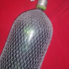 Sifon de 2 litri  - fabricat IPRS Sibiu cu protectie-camasa din sarma - f. rar
