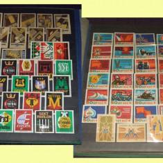Clasor cu 600 etichete de chibrituri straine din anii 50-70