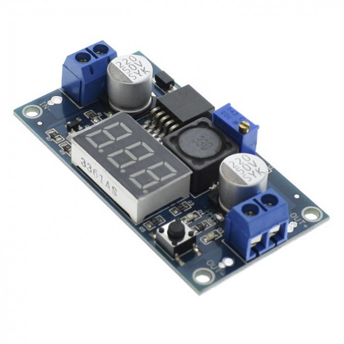 DC-DC converter step-down, IN:4.5-40V, OUT:1.25-37V ( 2A ) LM2596 (DC296)