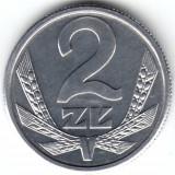 Polonia  2 zlote(zloti)   UNC (necirculati)   1989, Europa, Aluminiu