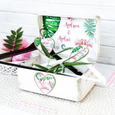 Tropical Love – cutie personalizata nunta, Cadouri Valentine`s Day
