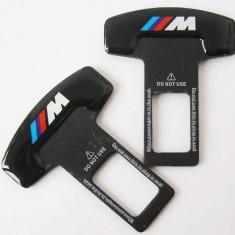 2 x Suport centura auto siguranta pentru BMW M Power elimina sunetul suparator - Embleme auto, Audi
