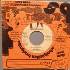 KENNY ROGERS - SWEET MUSIC MAN/I WASN'T.(1977/ARIOLA/RFG) -Vinil Single pe '7/NM - Muzica Country United Artists rec