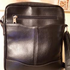 Borseta piele naturala, neagra- Belmondo, dimensiuni 28 cu 22 cm - Borseta Barbati