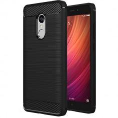 Husa Carbon pentru Lenovo K6 Note, Negru