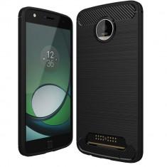 Husa Carbon pentru Moto Z, Negru - Husa Telefon