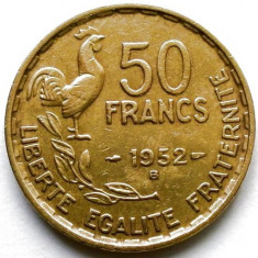 FRANTA, 50 FRANCS 1952 B, MONETARIA BEAUMONT LE ROGER, URIASA 27mm., Europa, Bronz