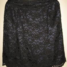 Fusta dantela Limited Collection Mar 42/ 44, Culoare: Negru, Midi, Dreapta