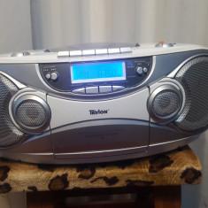 Mini Combina Muzicala Casetofon Radio USB Mp3 Stick TEVION RCD 38908 - Combina audio, Clasice, 0-40 W