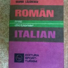George Lazarescu - Mic dictionar roman-italian