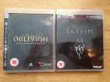 Vand 2 jocuri PS3 / Playstation 3 : Oblivion + SKYRIM