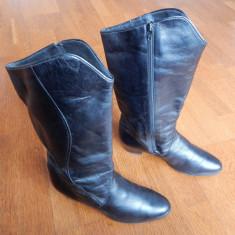 Cizme piele naturala Ara Luftpolster captusite cu lana pura. Marime 40 (26.5 cm)