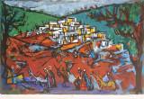 Marcel Iancu (Janco) - Peisaj oriental /Lucrare deosebita, semnata, format mare