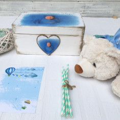 The Bear & The Magic Box Baby Boy Gift Set- Cadou Bebe Personalizat - Tobogan copii