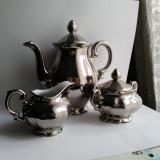 Set argintat din  portelan
