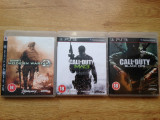3 jocuri PLAYSTATION 3 / PS3  : CALL OF DUTY Modern Warfare 2 , 3 + BLACK OPS