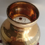 Vaza mica din cristal pictata manual cu aur coloidal