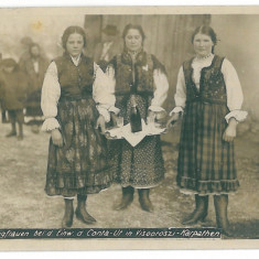 3896 - Maramures, RUSCOVA, Ethnics women - old postcard, real PHOTO - unused - Carte Postala Maramures dupa 1918, Necirculata, Fotografie