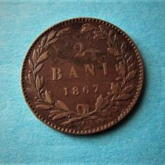 V- 2 bani 1867-Watt! - Moneda Romania