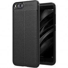 Husa silicon Leather pentru Xiaomi Mi6, Negru - Husa Telefon