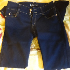 Blugi dama skinny / slim, albastru, Marime: 28