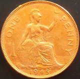 1 (One) Penny - Marea Britanie/ Anglia, anul 1945  *cod 4490 --- GEORGIVS VI, Europa