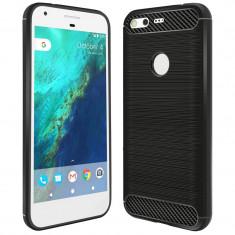 Husa Carbon pentru Google Pixel, Negru - Husa Telefon
