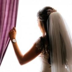 Voal De Mireasa Elegant Lungime 1M Nou Model Deosebit - Voal mireasa