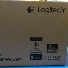 Camera web Logitech B910 HD noua sigilata - Webcam Logitech, Microfon