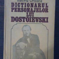 Valeriu Cristea - Dictionarul personajelor lui Dostoievski vol. I - Carte Monografie
