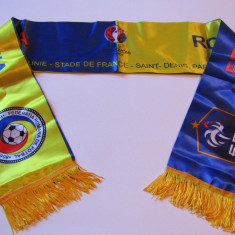 Esarfa fotbal FRANTA - ROMANIA (10.06.2016 Campionatul European) - Fular fotbal