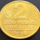 Moneda 2 Pesos Uruguayanos - URUGUAY, anul 1998 *cod 873 --- XF, America Centrala si de Sud