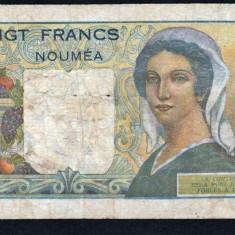 Indochina Noua Caledonie 20 francs [2] 1951-63 P#50c