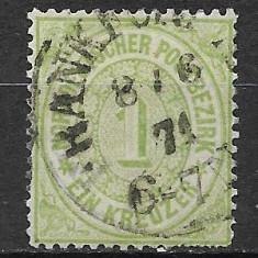 Germania districtul de nord 1869, Stampilat