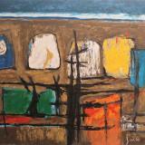 Marcel Iancu (Janco) - Compozitie abstracta/Lucrare deosebita, semnata - Litografie