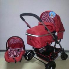 Carucior 3 in 1 Baby Care nou in cutie sigilat cod YK 18-19 - Carucior copii 3 in 1 Baby Care, Rosu