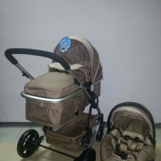 Carucior 3 in 1 Baby Care nou in cutie sigilat cod YK 18-19 - Carucior copii 3 in 1 Baby Care, Crem