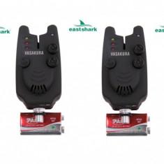 Set 4 Avertizori ( Senzori ) EastShark Cu Potentiometru Modelul Clasic Diamant - Avertizor pescuit, Swingere