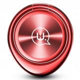 Suport inel universal Usams ZJ024 Magnetic Finger rosu Blister Original