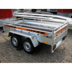 Remorca 750kg Boro Majster punte tandem 245x125 cm, cu RAR, 6 RATE Fara Dobanda - Utilitare auto