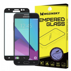Folie Protectie ecran antisoc Samsung Galaxy J3 (2017) J330 WZK Tempered Glass Full Face neagra Blister Originala - Folie de protectie, Sticla